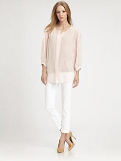 Jeunesse - Francoise Striped Silk Blouse