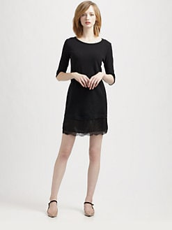 Clu - Lace-Trim T-Shirt Dress