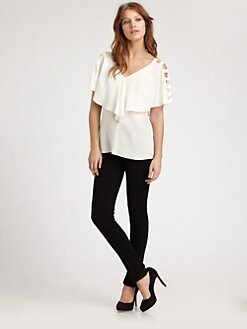ADDISON - Caged Flutter Top