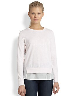 Clu - Paneled Jersey Sweater