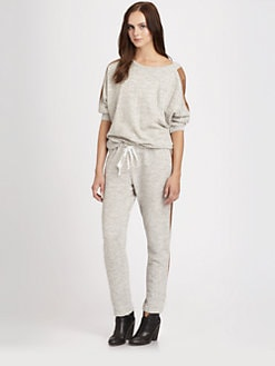 Clu - Paneled Silk-Trim Sweatshirt