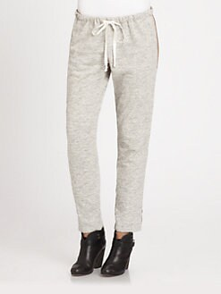 Clu - Paneled Silk-Trim Sweatpants