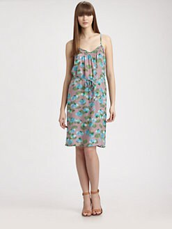 Tucker - Shirred Silk Cami Dress