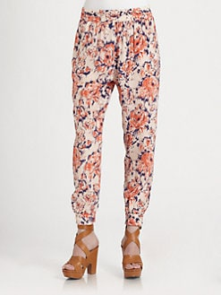 Tucker - Floral-Print Silk Pants