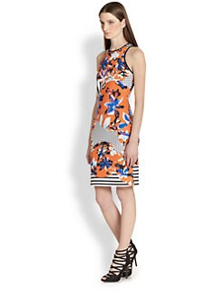 Clover Canyon - Floral-Print Neoprene Racerback Dress