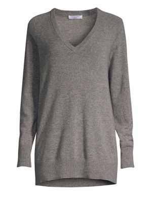 Aspen Cashmere V-Neck Boyfriend Sweater