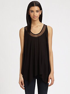 AIKO - Hince Sheer-Panel Jersey Tank