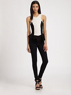 AIKO - Mcmenamy Contrast Peplum Top