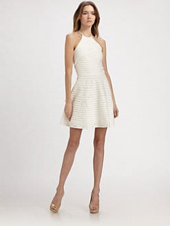 Parker - Karmen Lace-Trim Silk Dress