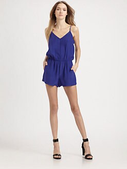 Parker - Edie Short Silk Jumpsuit