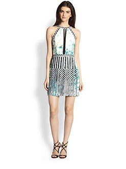 Parker - Selita Embroidered Silk Dress