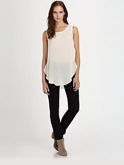 PJK Patterson J. Kincaid - Stevie Sheer Pintuck Tank