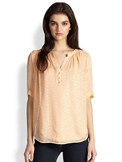 Ella Moss - Tess Sheer Stretch-Silk Blouse