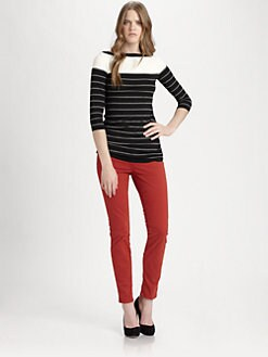 Bailey 44 - La Strada Striped Jersey Top