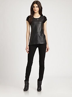 Bailey 44 - Play Faux Leather Top