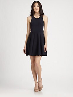 Parker - Lulu Contrast-Back Skater Dress