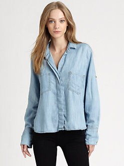 Bella Dahl - Split-Back Chambray Shirt