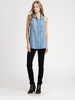 Bella Dahl - Sleeveless Split-Back Shirt
