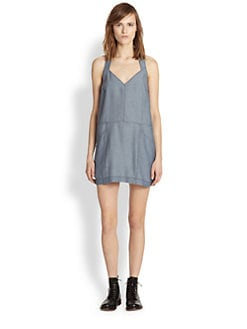 ADDISON - Chambray T-Back Dress