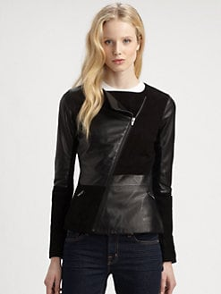 Veda - Cassius Leather Combo Jacket