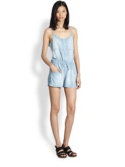 Bella Dahl - Short Denim Jumpsuit