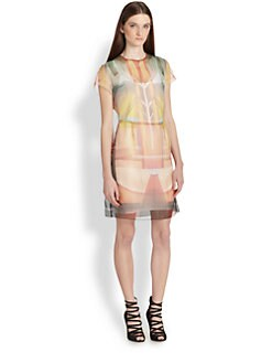 Clover Canyon - Fluorescent Lights Printed Organza Dress