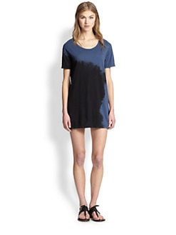 LNA - Midnight Tie-Dye Tee Dress