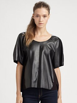C&C California - Leatherette-Panel Tee