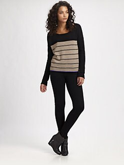 360 Sweater - Ronnie Striped Cashmere Sweater