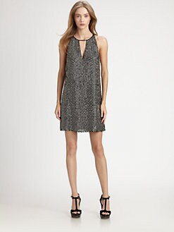 Parker - Sequined Keyhole Dress