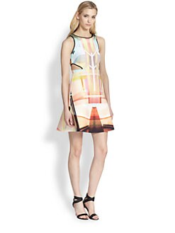 Clover Canyon - Printed Scuba Cutout Dress