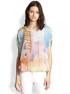 Clover Canyon - Greek Dream Printed Chiffon Top