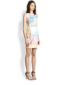Clover Canyon - Greek Dream Cutout-Back Printed Dress