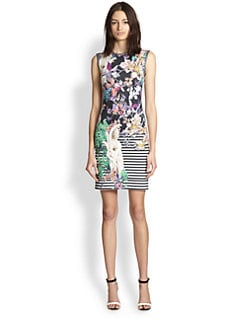 Clover Canyon - Enchanted Garden Printed Neoprene Dress