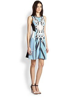 Clover Canyon - Printed Fit-&-Flare Neoprene Dress