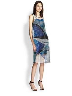 Clover Canyon - Zodiac Printed Sheer Organza Dress