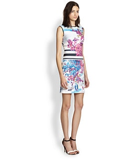 Clover Canyon - Santorini Printed Neoprene Body-Con Dress