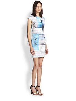 Clover Canyon - Classical Order Printed Neoprene Body-Con Dress
