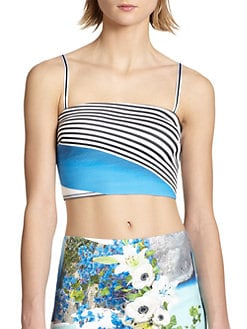 Clover Canyon - Printed Neoprene Cropped Top