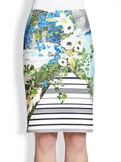 Clover Canyon - Printed Neoprene Pencil Skirt
