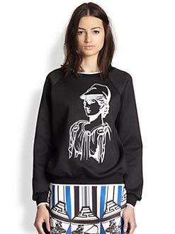Clover Canyon - Athena Embroidered Neoprene Sweatshirt
