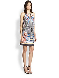Clover Canyon - Byzantine Printed Drawstring-Waist Dress