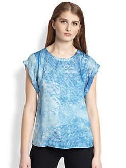ADDISON - Printed Split-Back Hi-Lo Top