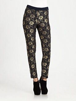 Sam & Lavi - Glen Metallic Lace Pants