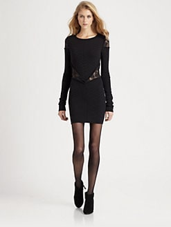Torn - Holly Lace-Trim Sweaterdress