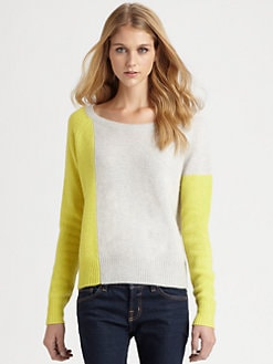 360 Sweater - Peri Cashmere Colorblock Sweater