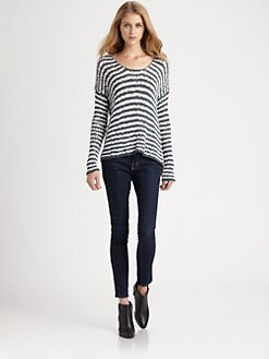 360 Sweater - Annabelle Striped Sweater