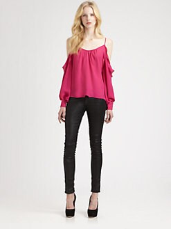Parker - Silk Ruffle Top