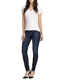 LNA - Cotton V-Neck Tee