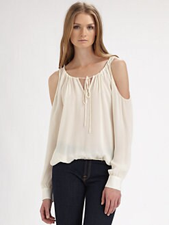 Chelsea Flower - Silk Cutout Blouse